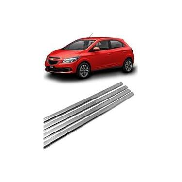 Imagem de Kit Aplique Cromado Pestana Chevrolet Onix e Novo Prisma