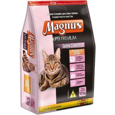 Ração Magnus Super Premium Frango e Arroz para Gatos Castrados - 10,1 Kg