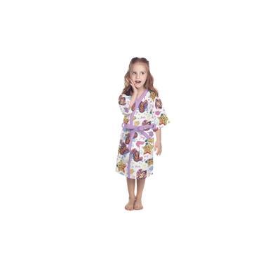 Roupão Infantil Atoalhado Barbie Quimono Felpudo Juvenil Lepper Algodão Banho