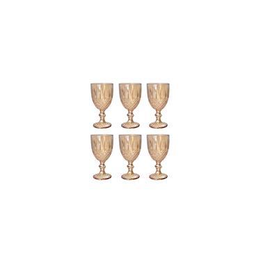 Imagem de Cj 6 taças de vidro ambar 345ml - Bon Gourmet
