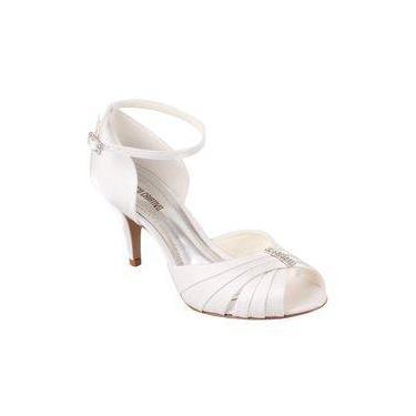 0a9fc56e8e Sandália Com Enfeite Em Strass Noivas Spaço Branco