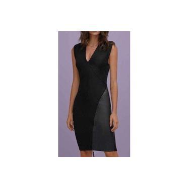 Vestido Curto Decote V Ziper Morena Rosa 106702