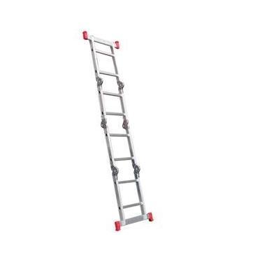Escada multifuncional de alumínio 4 x 2 com 8 degraus 13 em 1