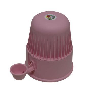 Bebedouro Vida Mansa Light Polipropileno PP Rosa para Raças Pequenas - 2 L
