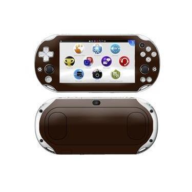 Kit Skin Adesivo Protetor PS VITA Playstation 2000 Slim (Marrom)