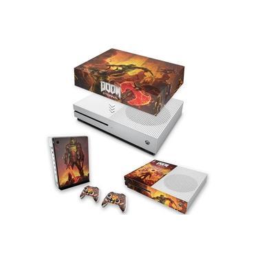 Capa Anti Poeira e Skin para Xbox One S Slim - Doom Eternal