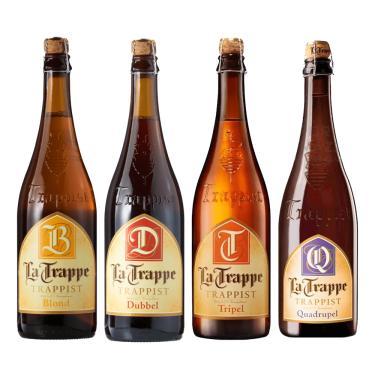 Kit Cerveja La Trappe Holandesa 750Ml Com 4 Estilos