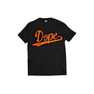 Camiseta Masculina Dope Laranja