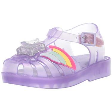Mini Sandália Infantil Pequena Melissa Possession Ii (Bebê), Grey Purple, 5 Toddler
