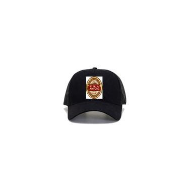 Imagem de Bone telinha trucker preto Rotulo Cerveja Stella Artois