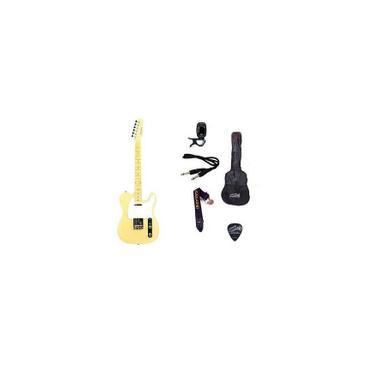 Imagem de Kit Guitarra Strinberg Telecaster TC120s Branca Vintage
