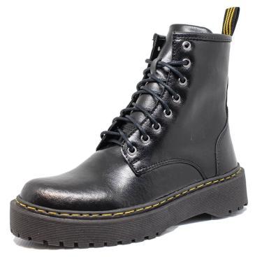 Bota Coturno Tratorado Dia a Dia Embora Footwear Preto/Grafite  feminino