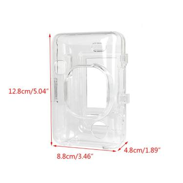 Clear crystal pvc caso protetor câmera saco capa para fujifilm mini kit liplay b85b