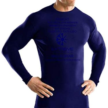 Imagem de Camisa Térmica Segunda Pele Extreme Thermo MISTA frio/calor Moderados Manga Longa Tamanho: GG Cor: Marinho