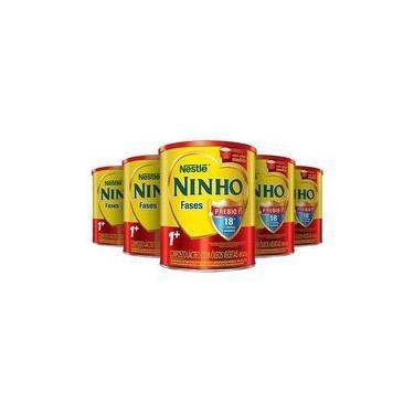 Leite em Pó Ninho Fases 1+ Neslté 800g - 5 latas