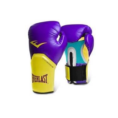 e3e376218 Luva Boxe Elite Pro Style Roxo Amarelo Everlast