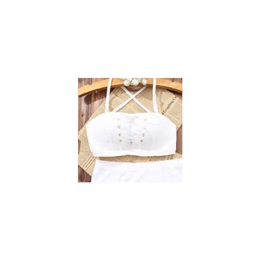 Imagem de Soutien sem alças, sem costura do laço, sem anel de aço, 70B branco (com