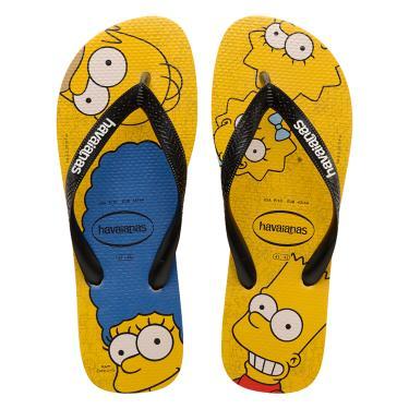 Sandália Havaianas Simpsons Amarelo  unissex