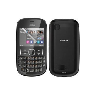 Celular Nokia Asha 201 Bloqueado Vivo Câmera 2MP Bluetooth 2.1 Teclado Qwerty Cartão 2GB