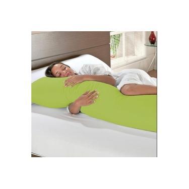 Imagem de Fronha Travesseiro De Corpo Gigante 100% Algodão 1,48 x 0,48 Verde
