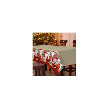 Imagem de Toalha de Mesa Teka Elegance Natalina Noel 140 x 260 cm