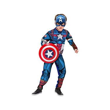Regina 109011.9, Fantasia Avengers Capitão América Luxo 2, Multicor