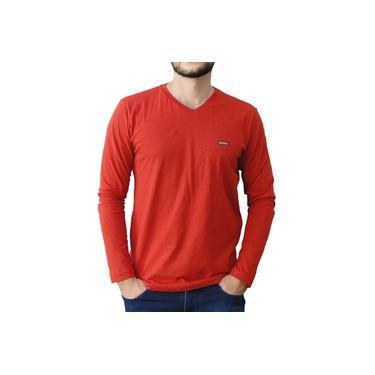 Camiseta Cobra D'Agua Manga Longa Vermelha
