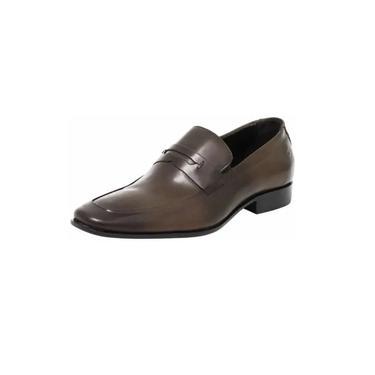 Sapato Masculino Democrata Marrom 100% Couro Ref 055127-002