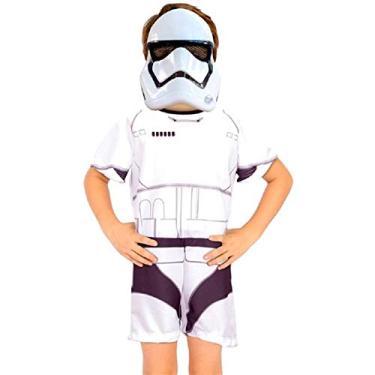 Fantasia Stormtrooper Infantil Curta Star Wars Original G 9-12