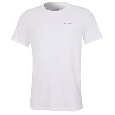 Camiseta Columbia Neblina Manga Curta Masculina -Branca M