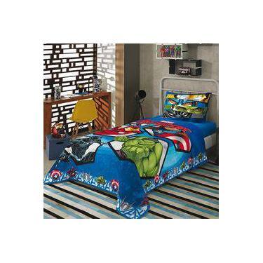 20739a4292 Jogo de Cama Solteiro Infantil Lepper Marvel Avengers 3 peças