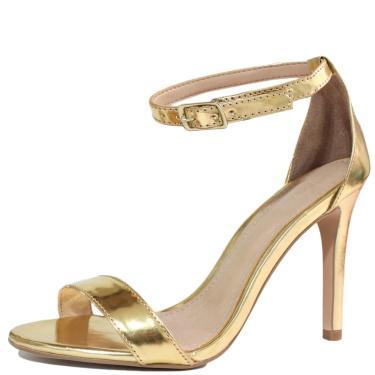 Sandália Single Liszy Salto Alto Dourado  feminino