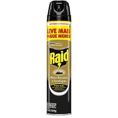 Imagem de Inseticida Raid Mata Baratas e Formigas Spray Leve Mais Pague Menos 420ml