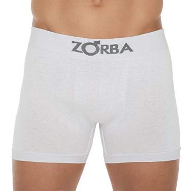 Cueca Boxer Zorba Algodão Sem Costura 781 G Branco