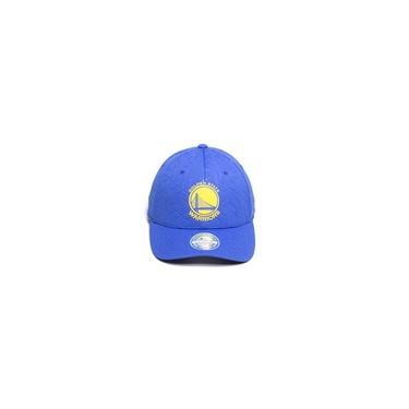 Boné Mitchell & Ness NBA Aba Curva Snapback Golden State Warriors Azul