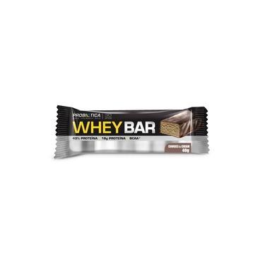 Barra de Proteína Whey Bar Low Carb Probiótica Cookies & Cream