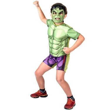 4953599b48 Fantasia Hulk Clássico Curto Infantil Com Máscara Original - P 2 - 4