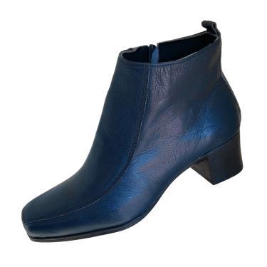 Bota Scarpe Salto Azul Marinho  feminino