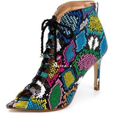 Sandália Bota Ankle Boot Salto Alto Feminina Confortável  feminino