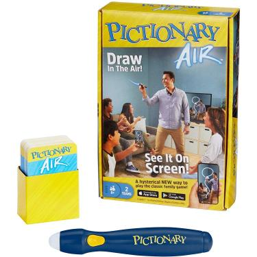 Imagem de Mattel Games Pictionary Air Drawing Game, Family Game with Light-up Pen and Clue Cards, Links to Smart Devices, Makes a Great Gift for 8 Year Olds and up