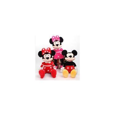 Imagem de Bonecas De Pelúcia Mickey Minnie Rosa E Minnie Vermelha tamanho 50cm