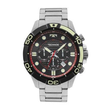 dfc9cd7b9ba Relógio Masculino Technos Acqua Cronógrafo JS25BP 0P - Prata