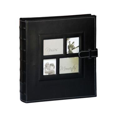 Álbum YES 10x15cm c/ Janela Pers. 500 fotos Preto