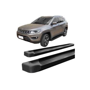 Estribo Lateral Jeep Compass Plataforma De Alumínio Preto - Preto