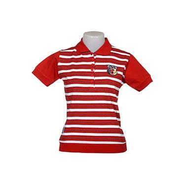 Camisa Pólo Feminina Listrada Com Retilínea Alemanha - FIFA
