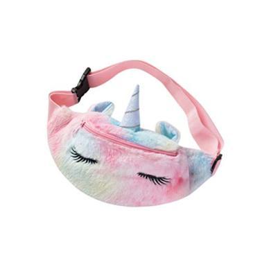 Amosfun Pochete de unicórnio bolsa de cintura arco-íris bolsa tiracolo bolsa de ombro casual bolsa Hobo bolsas de mão para meninas e mulheres, escola, compras, violeta, Colorful, 26.5X12.5X3CM