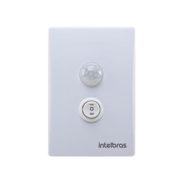 Imagem de Sensor de Presença de Embutir Intelbras ESPI-180E+, Com Interruptor, Branco