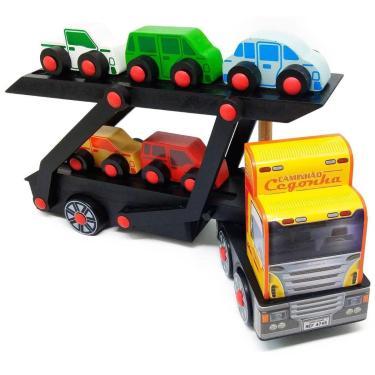 Imagem de Brinquedo De Madeira Caminhão Cegonha Carimbrás Ref.:4745