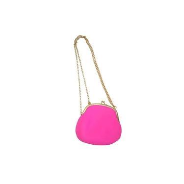 Bolsa De Silicone Vintage kit 6 uni Rosa Com Dourado Tiracolo
