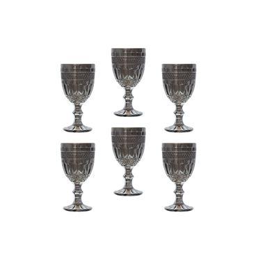 Jogo de 6 taças de vidro brand cinza bon gourmet